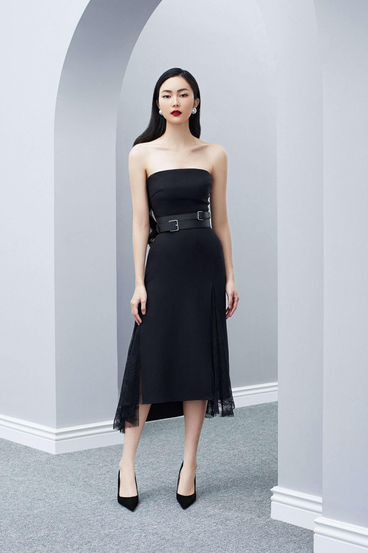 Đầm cúp váy phối ren mỏng thiết kế quyến rũ cao cấp #2621