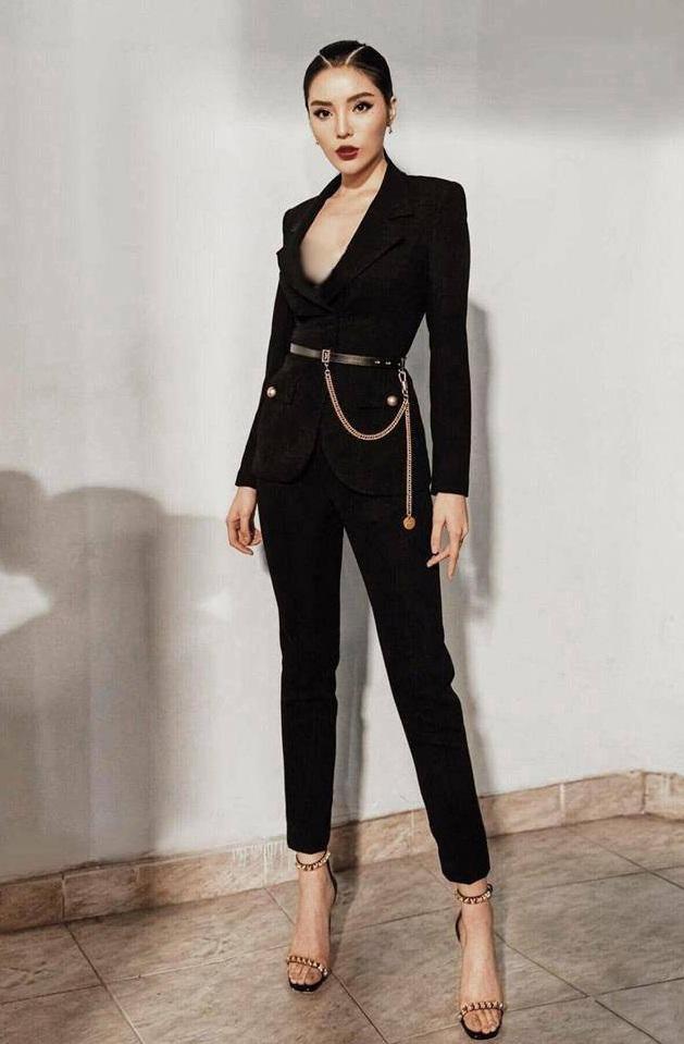 Set vest kết nút vàng quần ống đứng thiết kế sang trọng cao cấp #2101