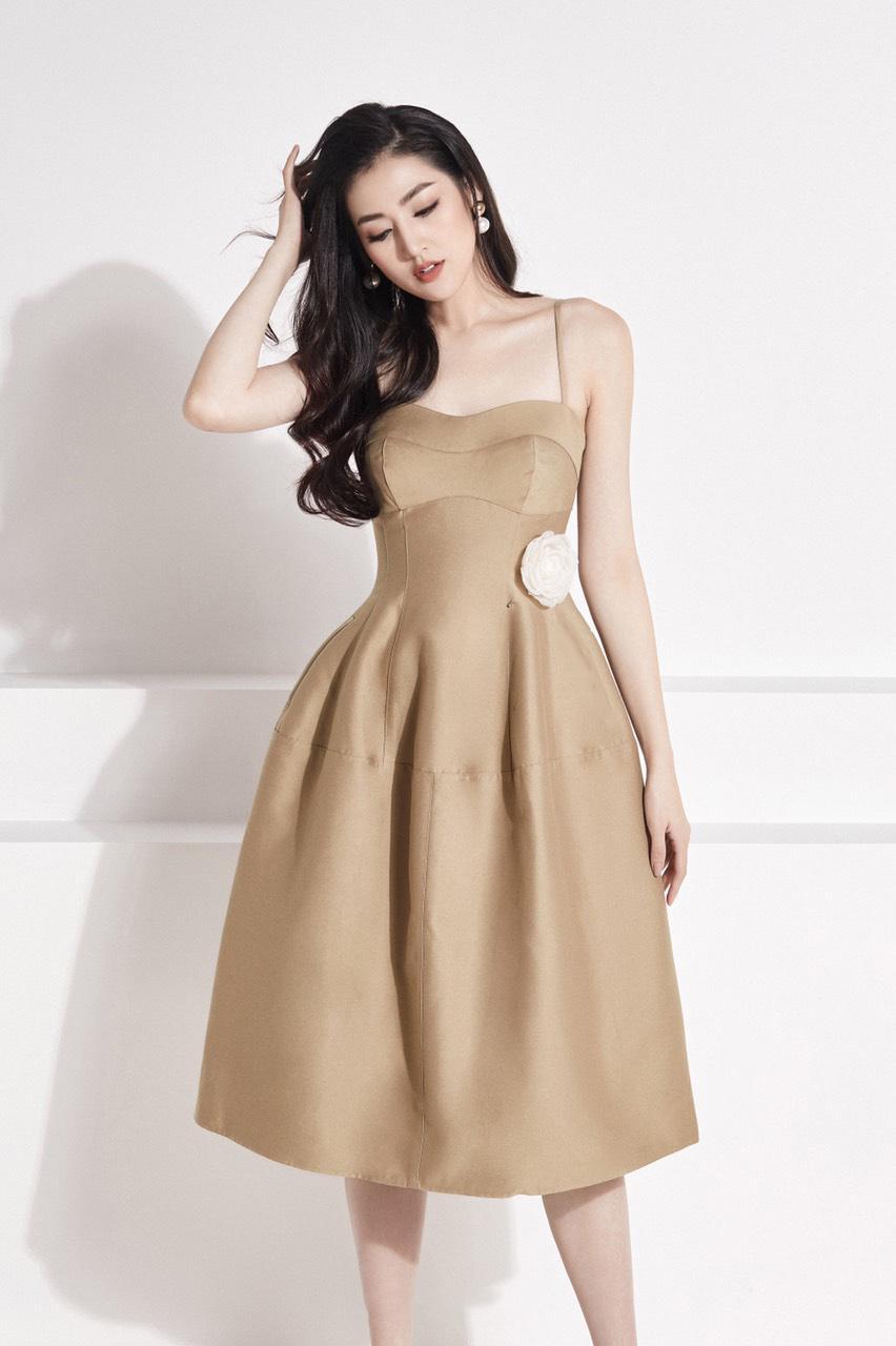 Đầm xòe cúp ngực 2 dây thiết kế tinh tế cao cấp #2372