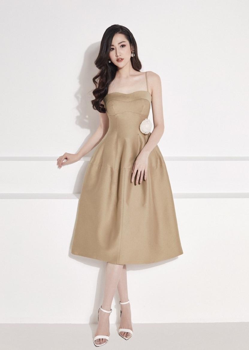 Đầm xòe cúp ngực 2 dây #2372