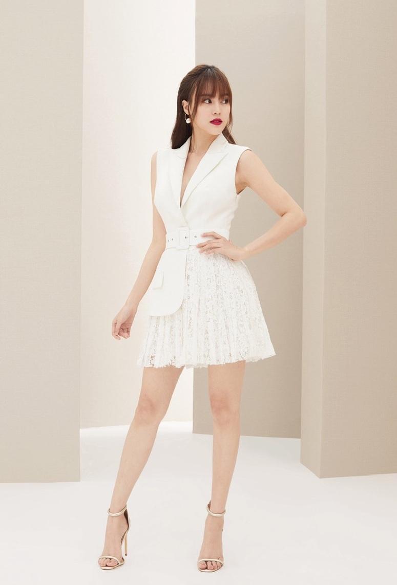 Đầm vest sát nách váy ren thiết kế tinh tế cao cấp #2374