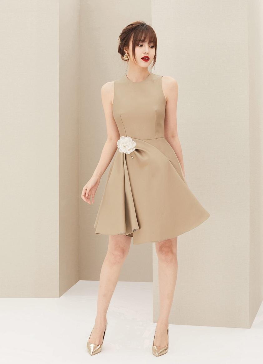 Đầm xòe sát nách váy xếp ly thiết kế tinh tế cao cấp #2378