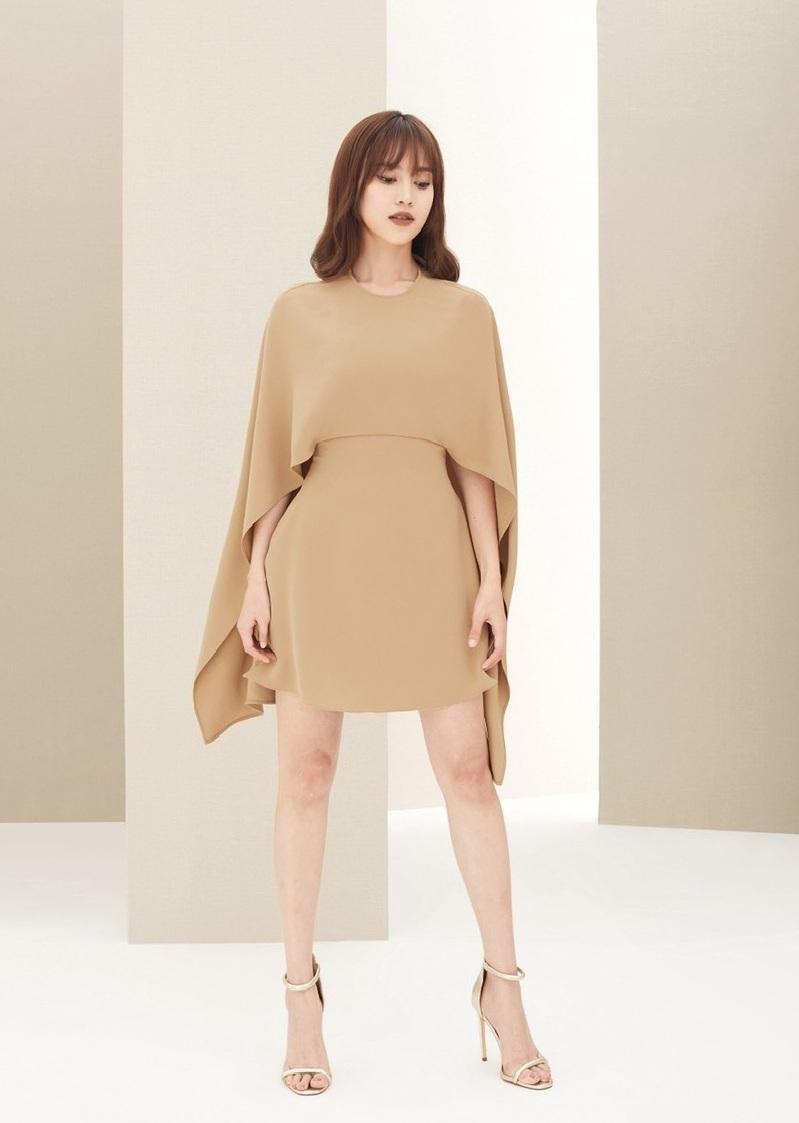 Đầm xòe cổ tròn tay dài thiết kế tinh tế cao cấp #2385