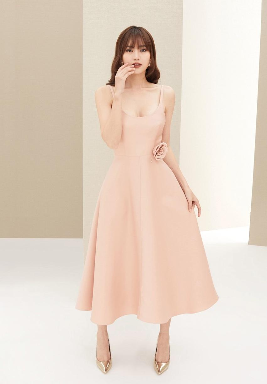 Đầm xòe 2 dây thiết kế nữ tính cao cấp #2390