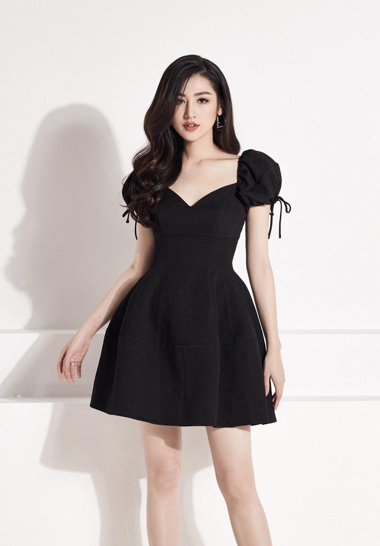 Đầm xòe cúp ngực tay phồng thiết kế thanh lịch cao cấp #2395