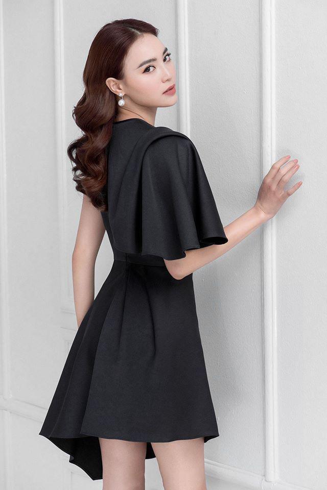 Đầm xòe lệch vai tay phồng thiết kế quyến rũ cao cấp #2534