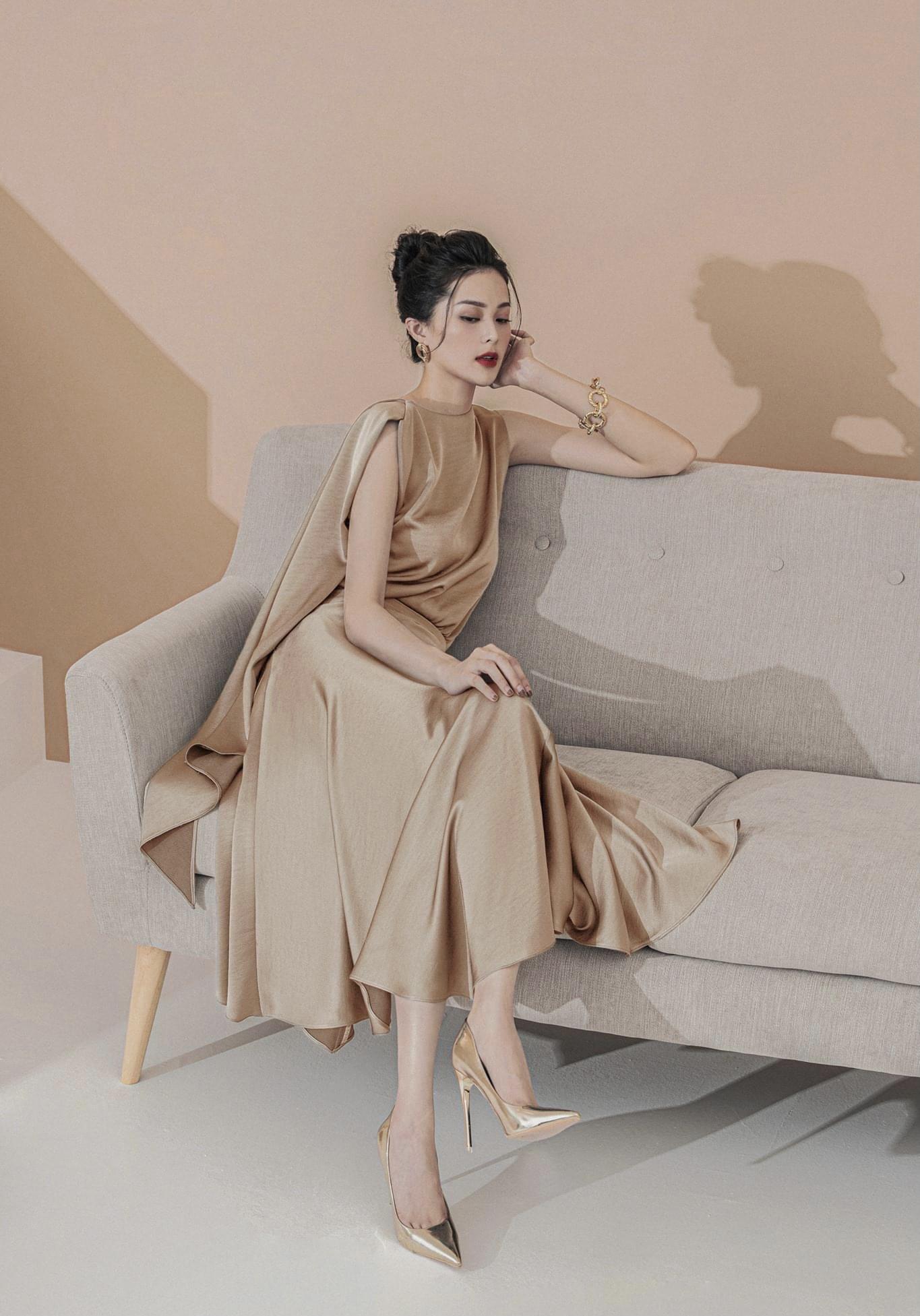 Set váy xoè áo choàng cổ #2873