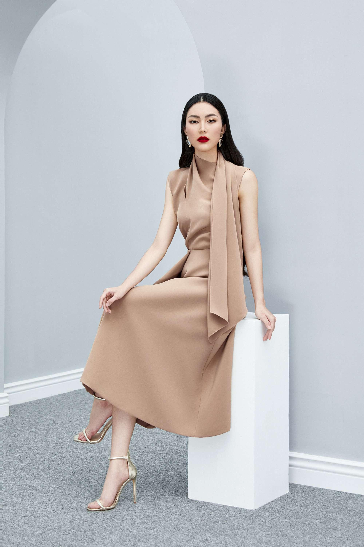 Set áo choàng váy xòe thiết kế thanh lịch cao cấp #2605