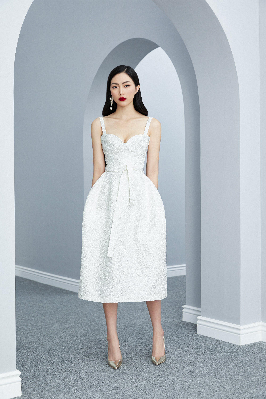 Đầm cổ yếm eo xếp ly nơ thiết kế thanhl lịch cao cấp #2613