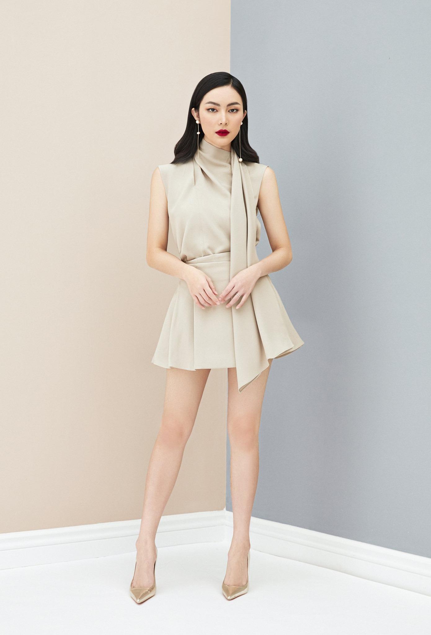 Set Áo choàng cổ và Chân váy xoè #2639