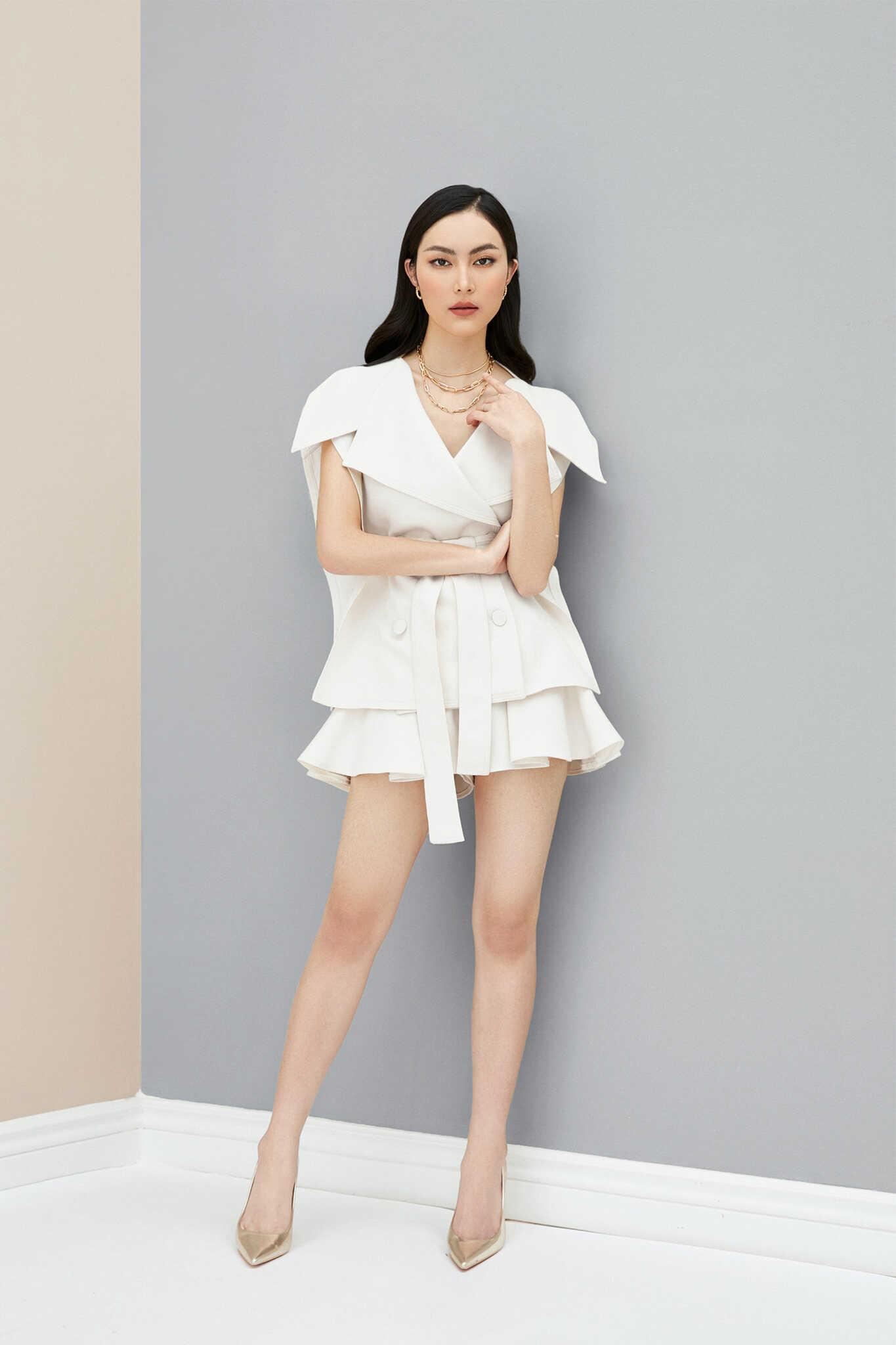Bộ vest from suông quần short #2734
