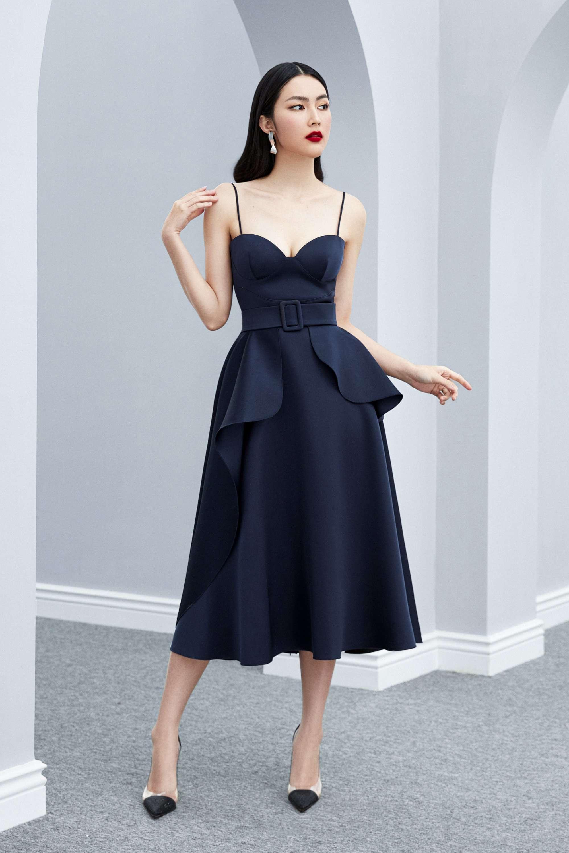 Đầm xòe 2 dây váy bèo bên sườn thiết kế quyến rũ cao cấp #2584