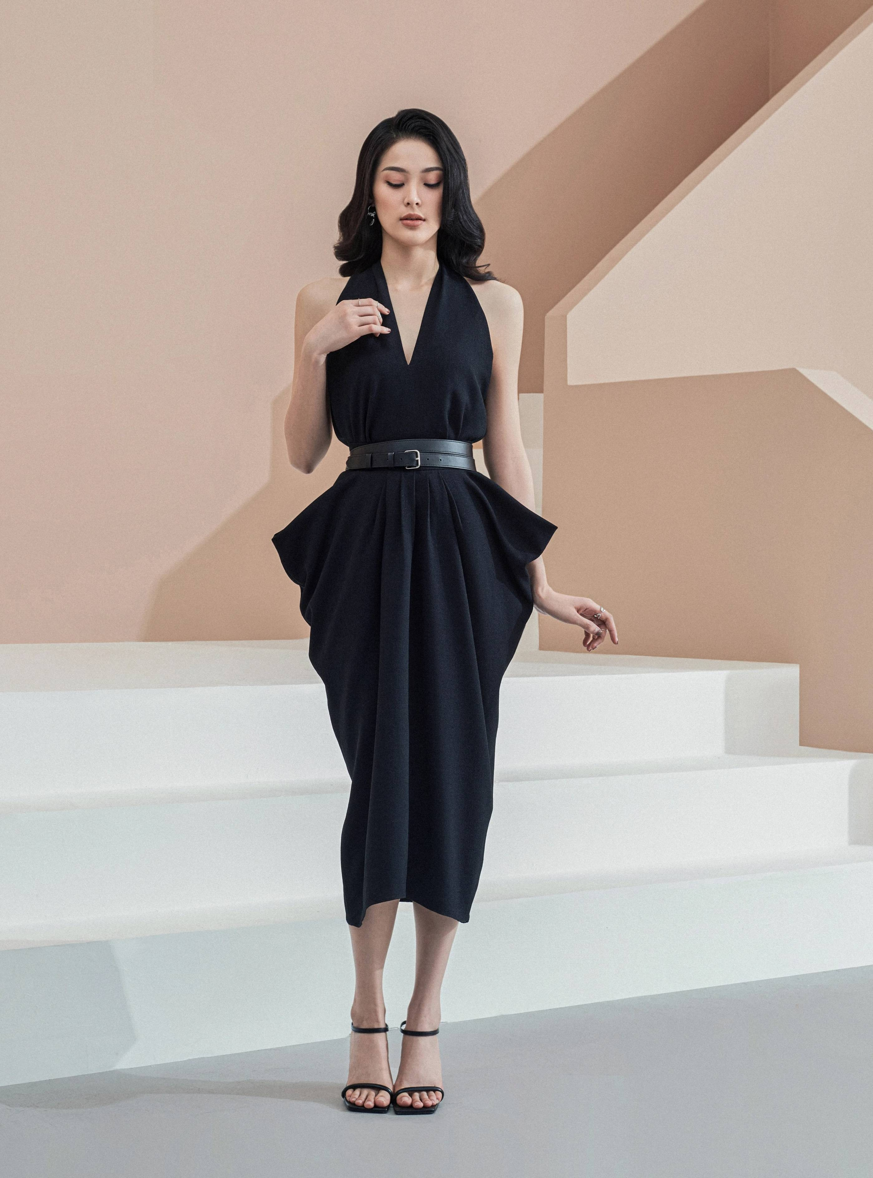 Set váy áo cổ yếm #2881
