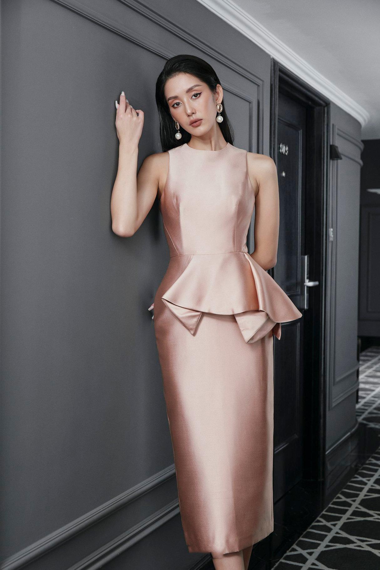 Đầm ôm body peplum dáng dài #2802