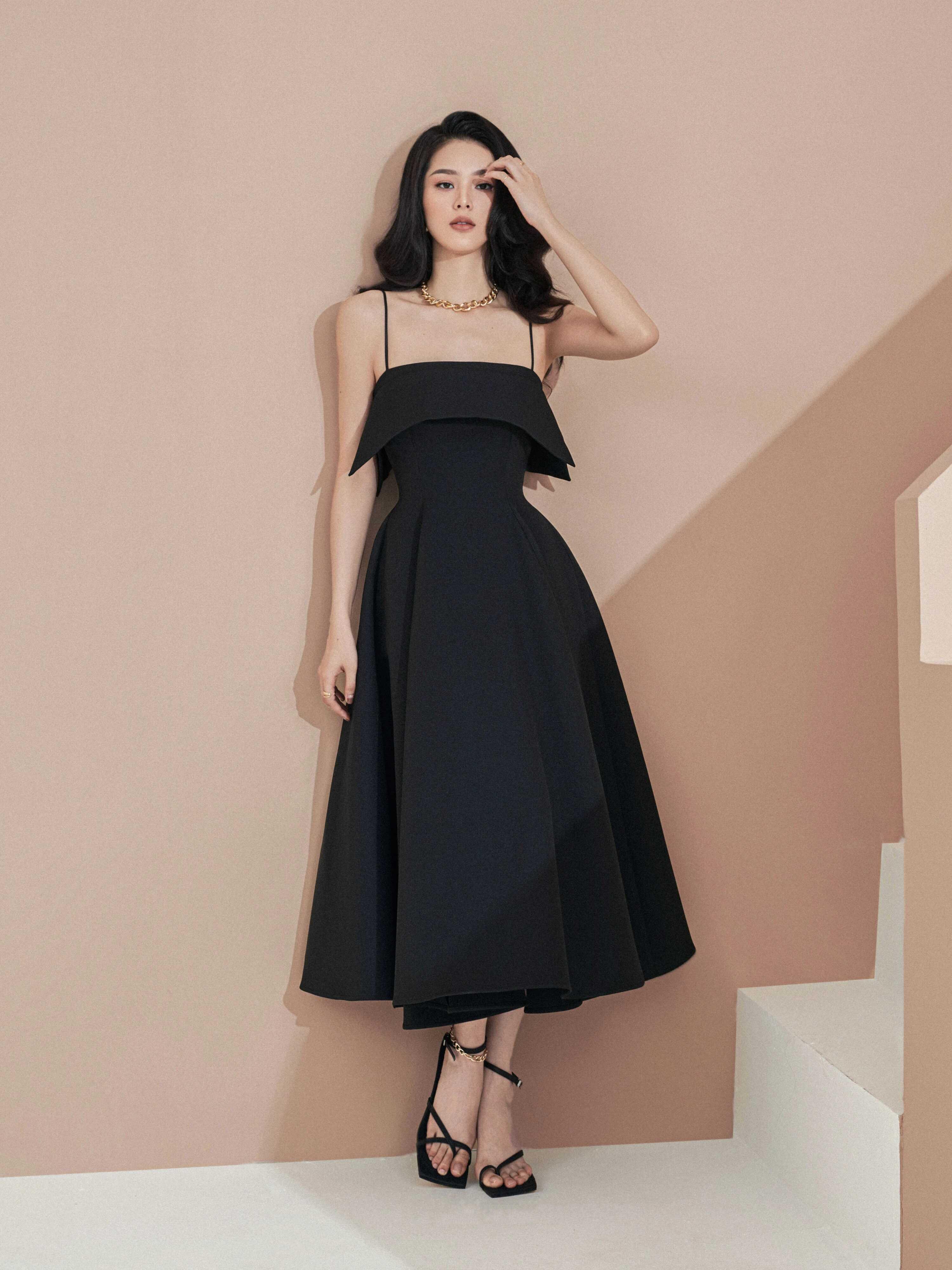Đầm xoè dài 2 dây #2800