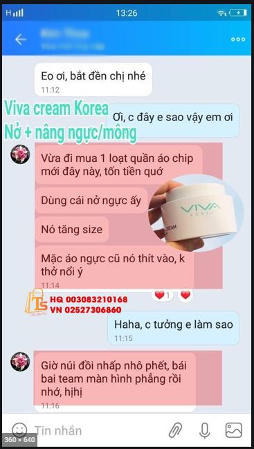 Kem Nở Ngực Viva Korea Cream