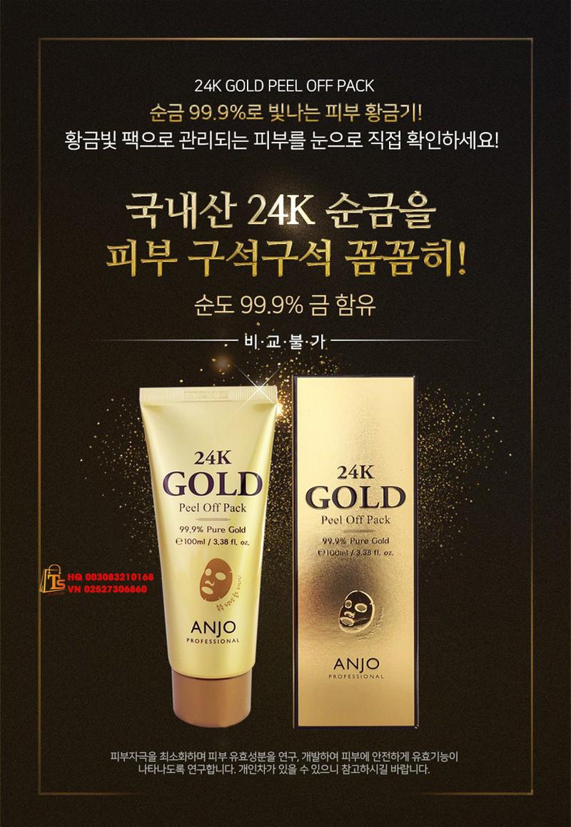 GEL LỘT MẶT NẠ VÀNG 24K GOLD MASK ANJO HÀN QUỐC