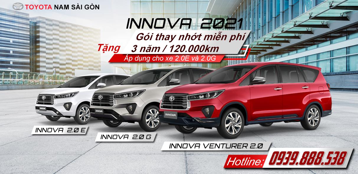 Khuyến Mãi Toyota Innova 2021 - Toyotanamsg.com
