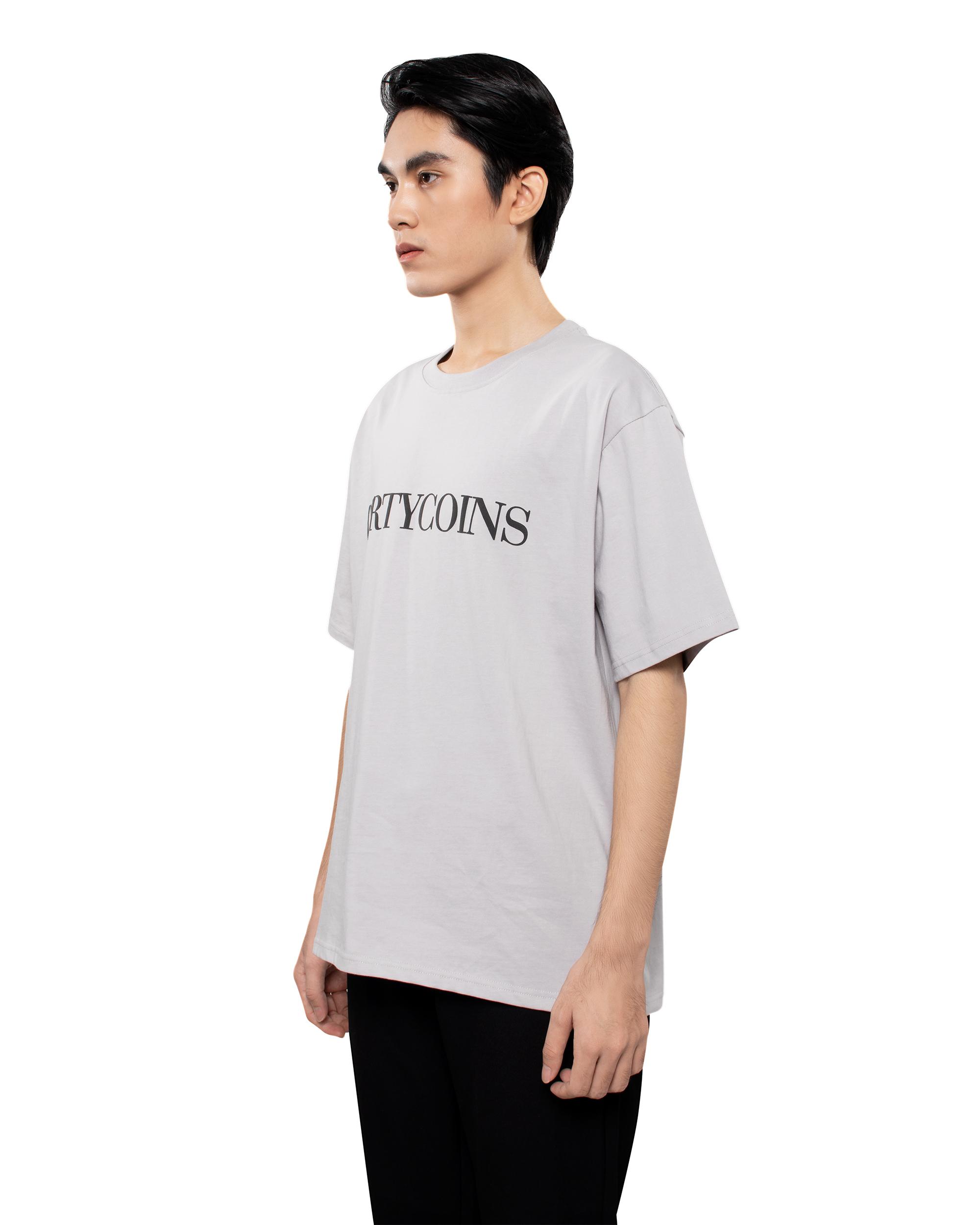 DirtyCoins Serif T-Shirt - Grey