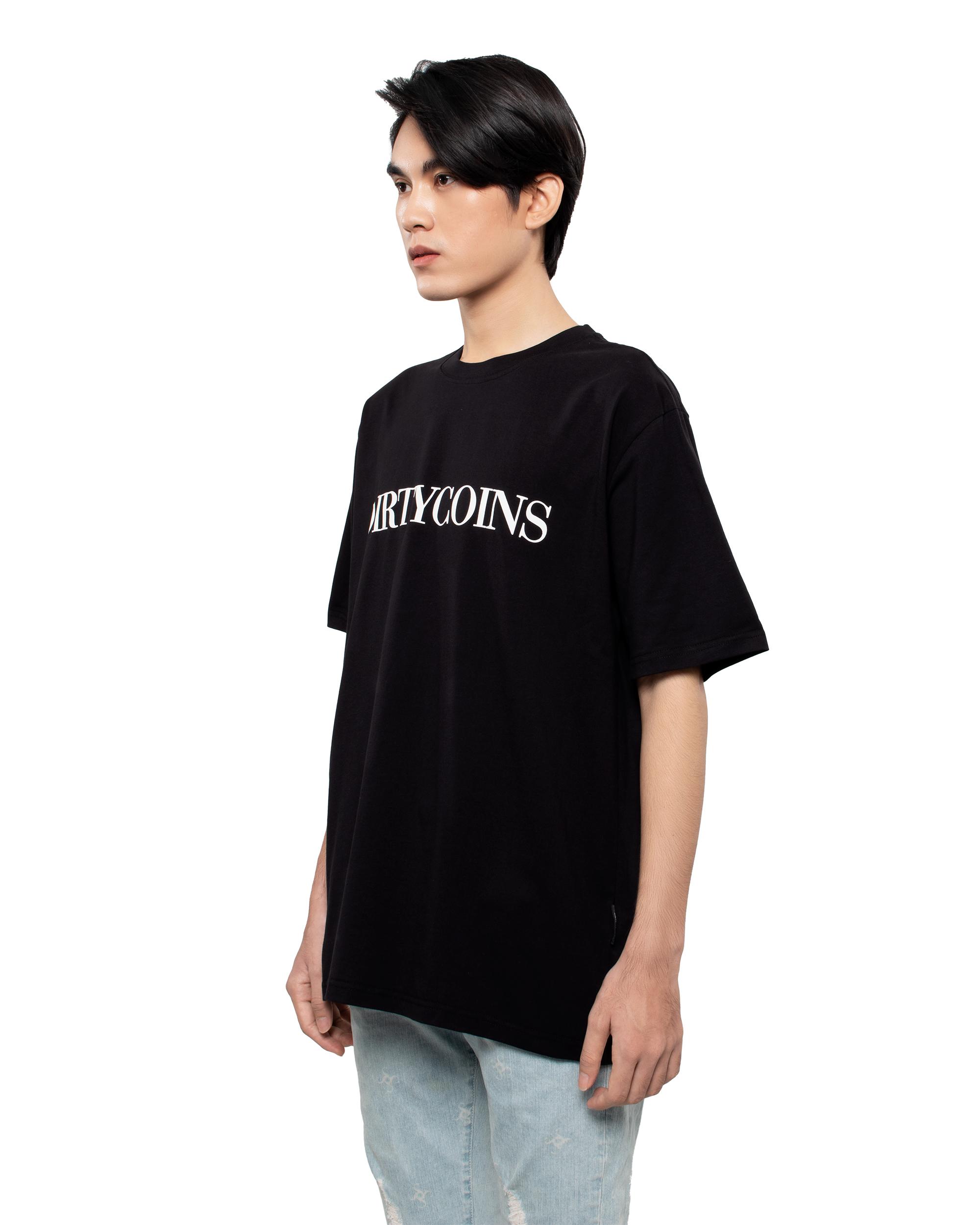 DirtyCoins Serif T-Shirt - Black
