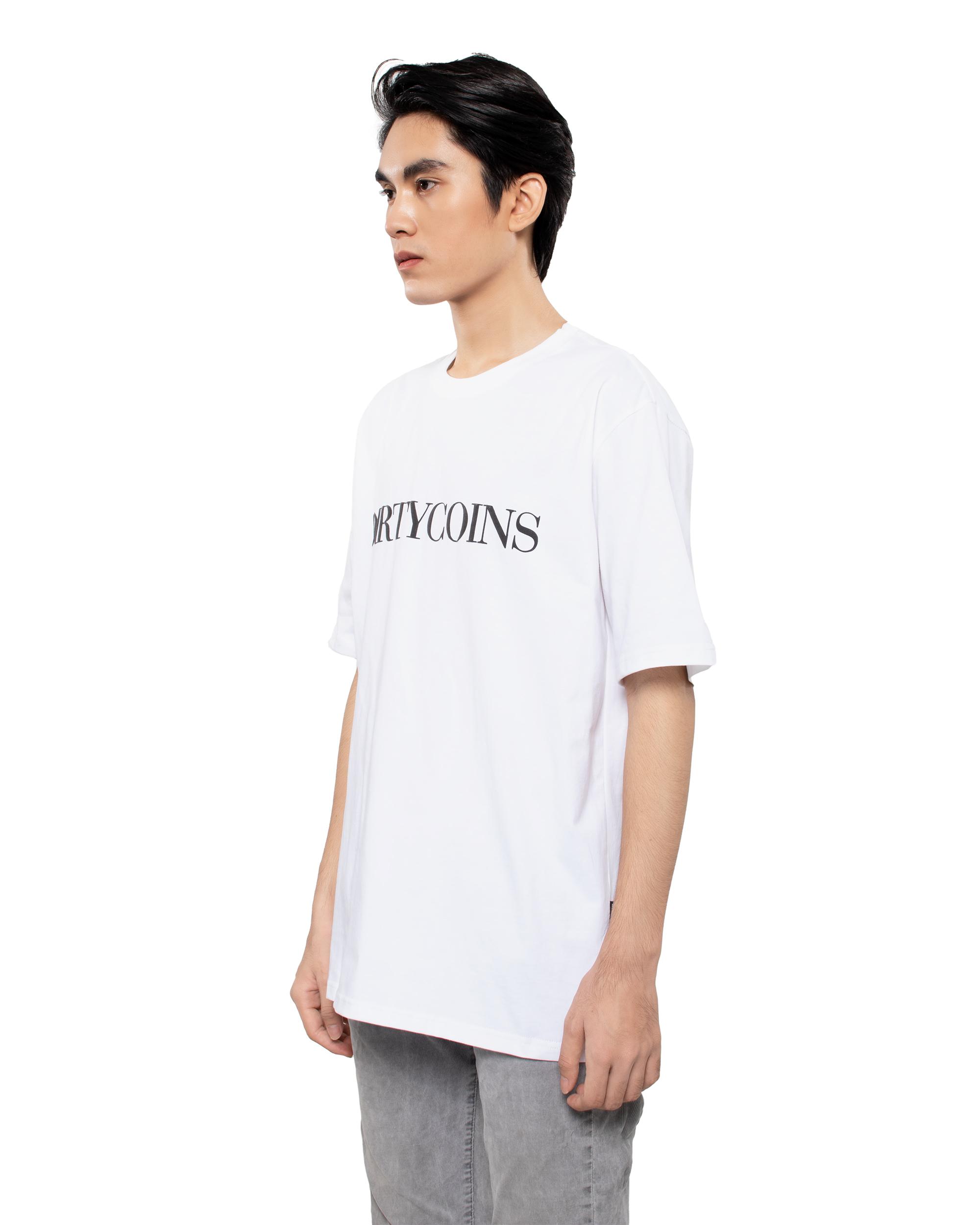 DirtyCoins Serif T-Shirt - White