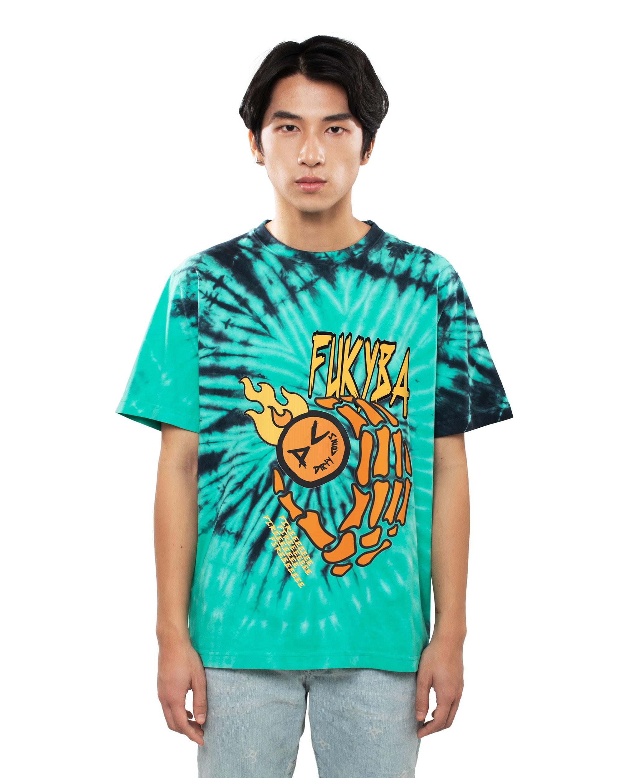 DirtyCoins Fukyba Tiedye T-Shirt - Green