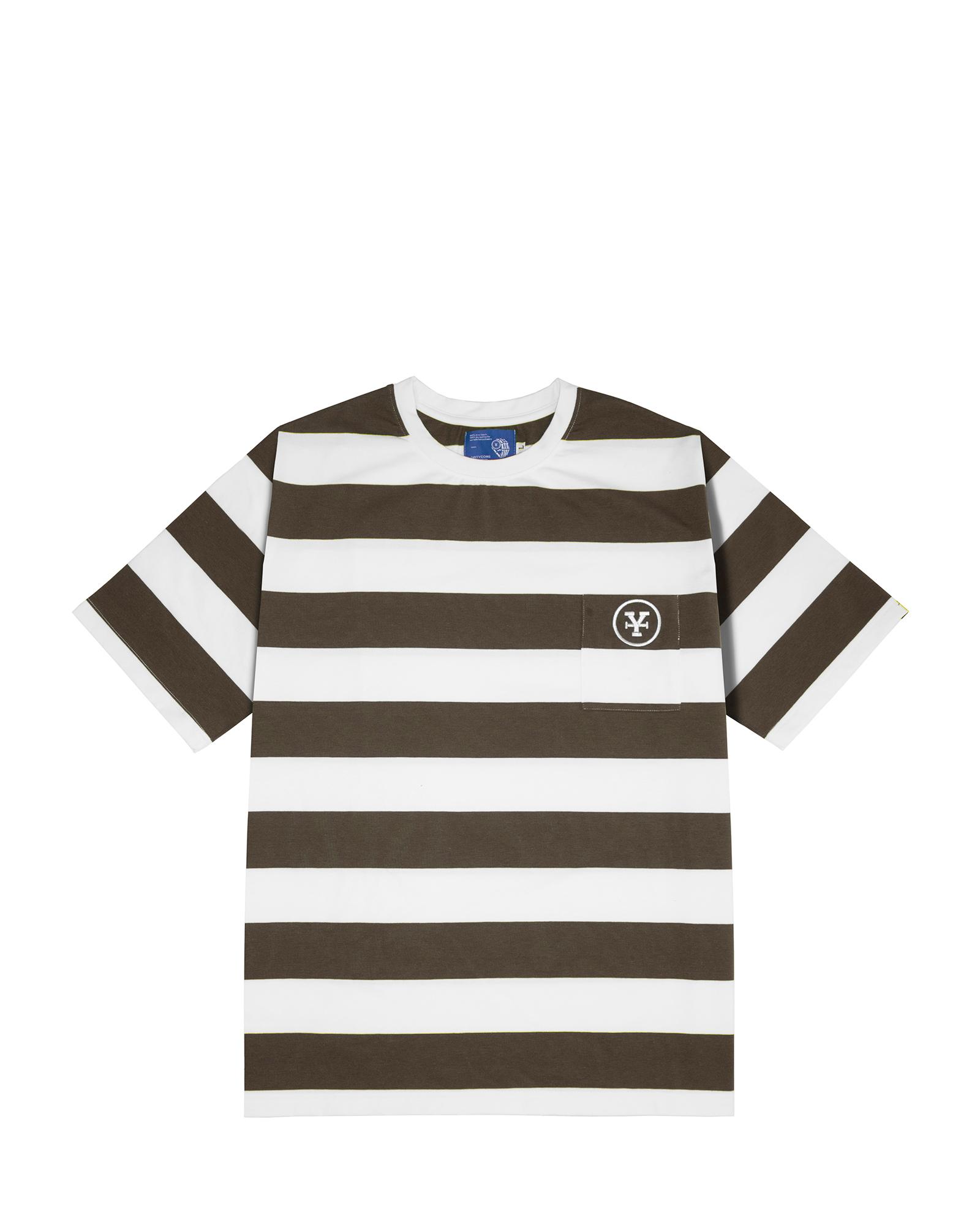 DirtyCoins Big Stripes T-shirt - Brown