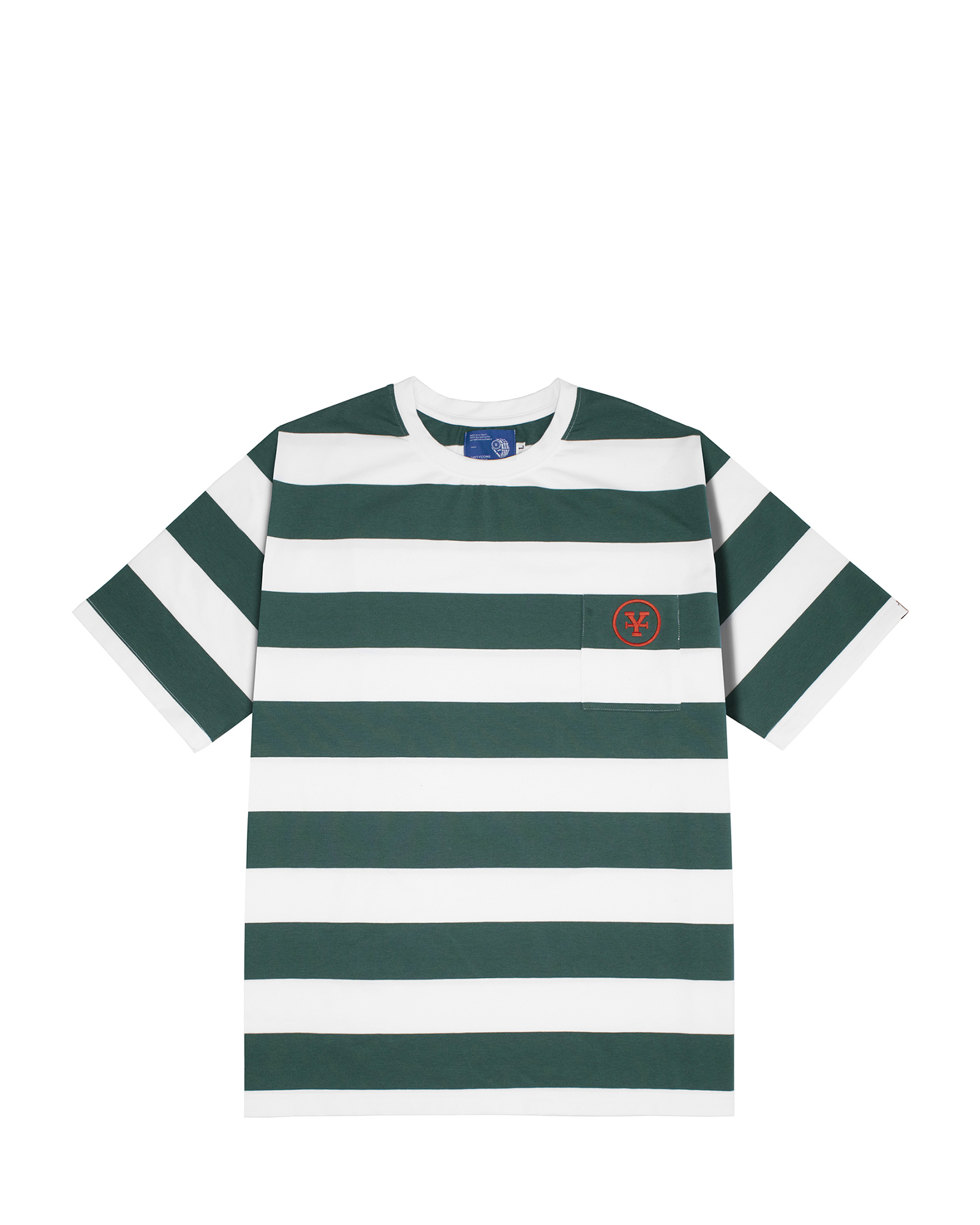 DirtyCoins Big Stripes T-shirt - Green