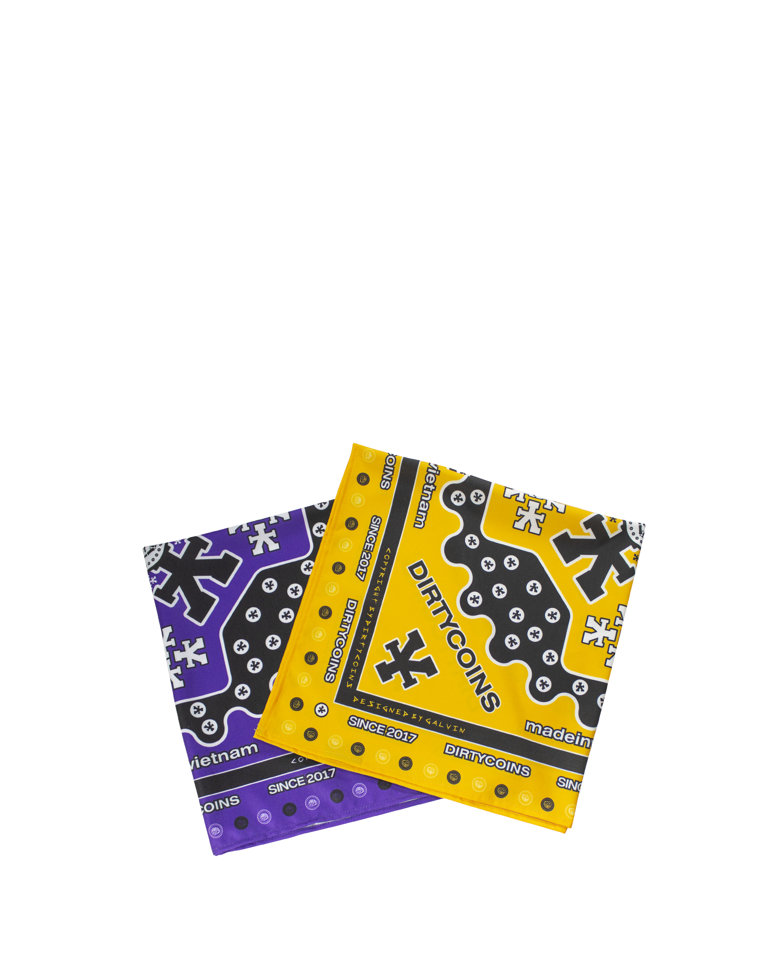 Signature Pattern Bandana Pack (Purple / Yellow)