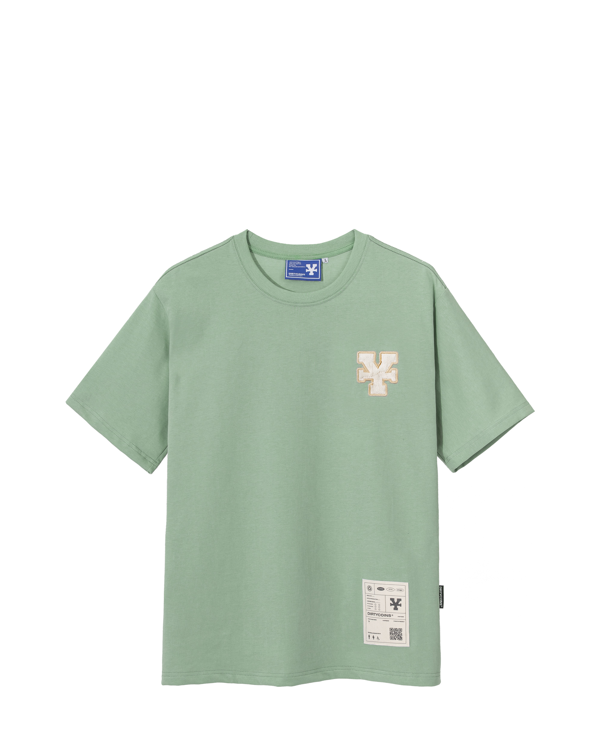 DirtyCoins Y Basic T-Shirt  - Mint