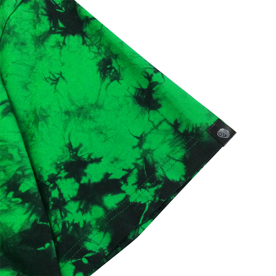 Green Galaxy Tie-Dye T-shirt