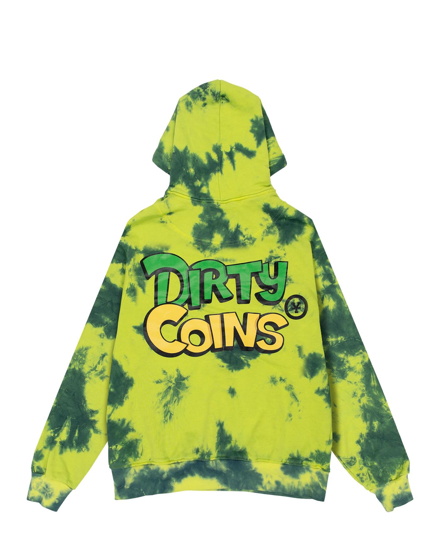 DirtyCoins Green Tie-dye Hoodie