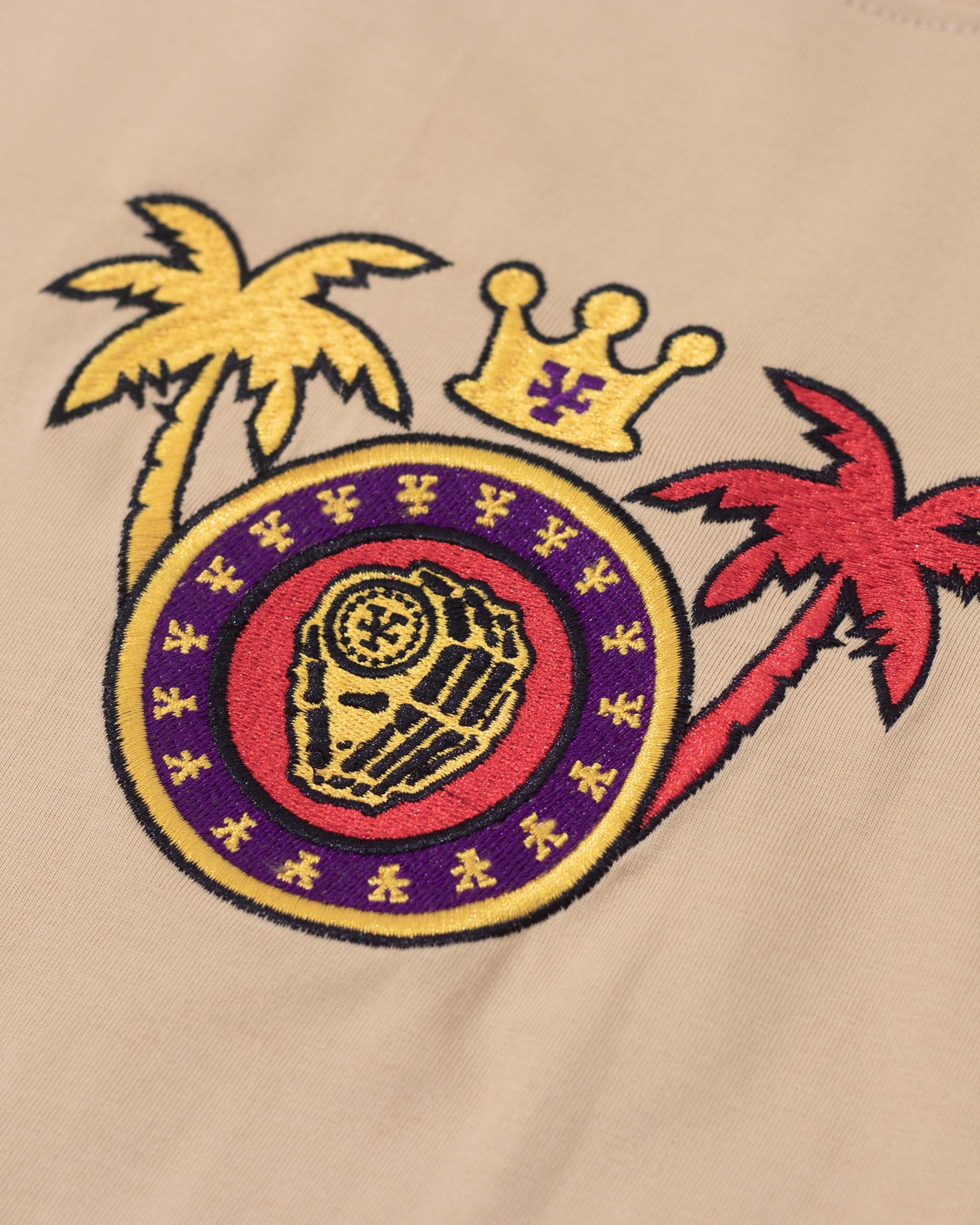 Embroidered patch T-Shirt - Tan