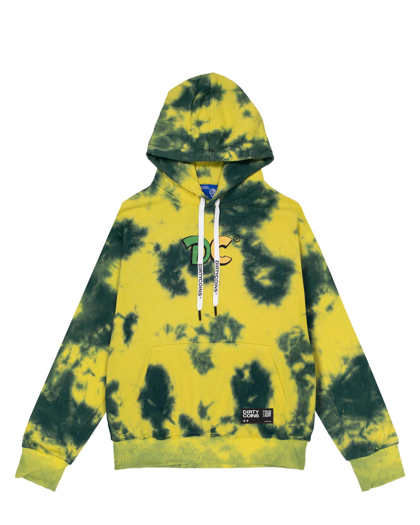 DirtyCoins Lime Tie-dye Hoodie
