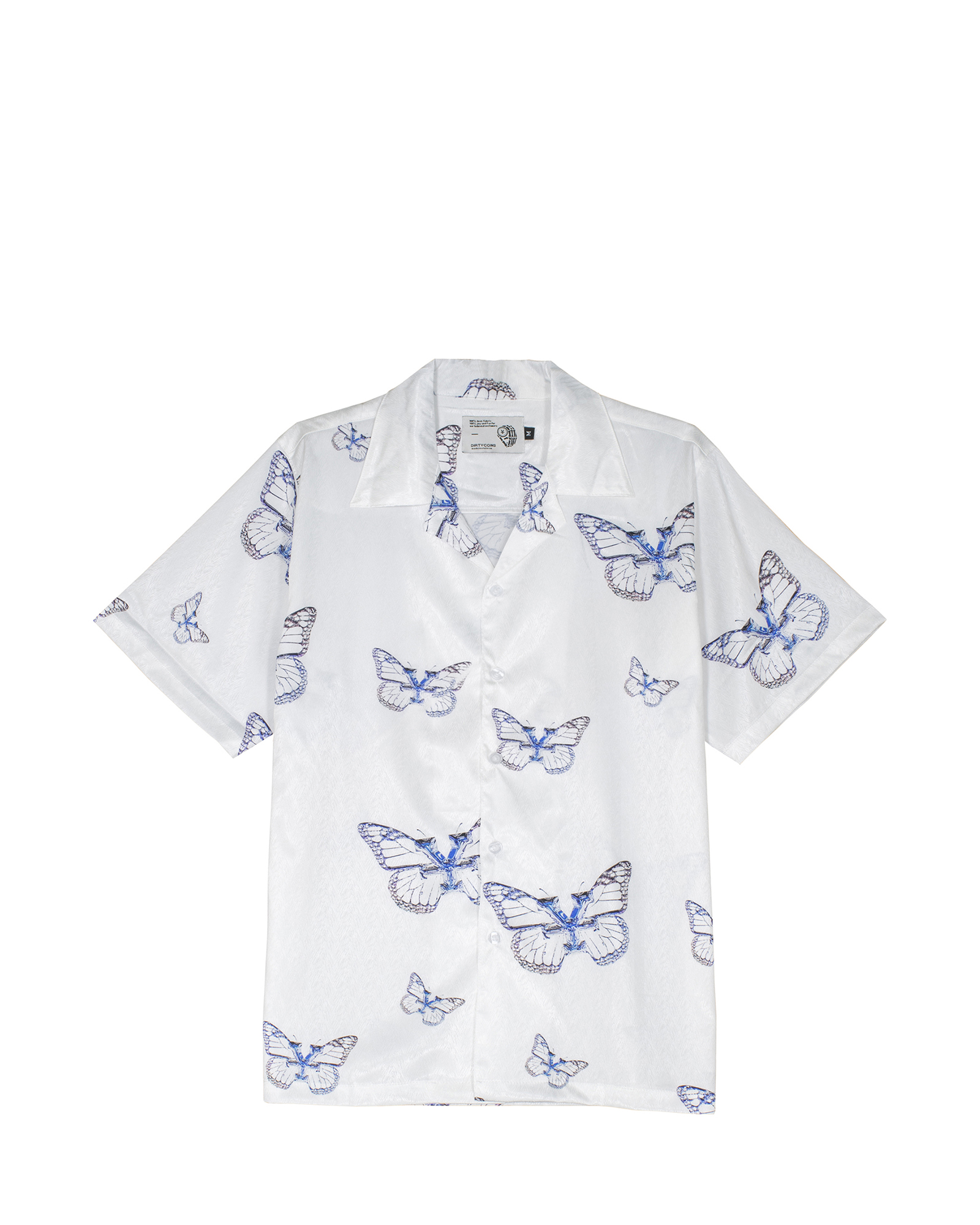 Monarch Print Shirt - White