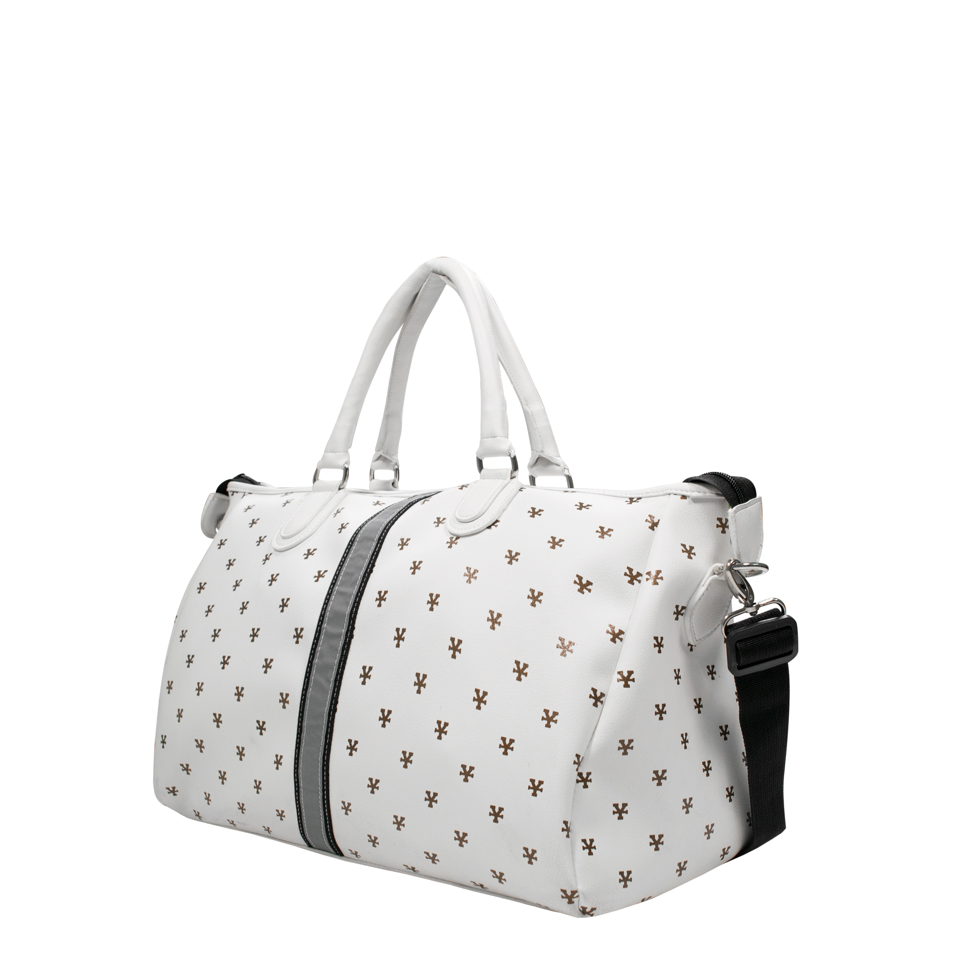 DirtyCoins Logo Pattern Bowler Bag - White