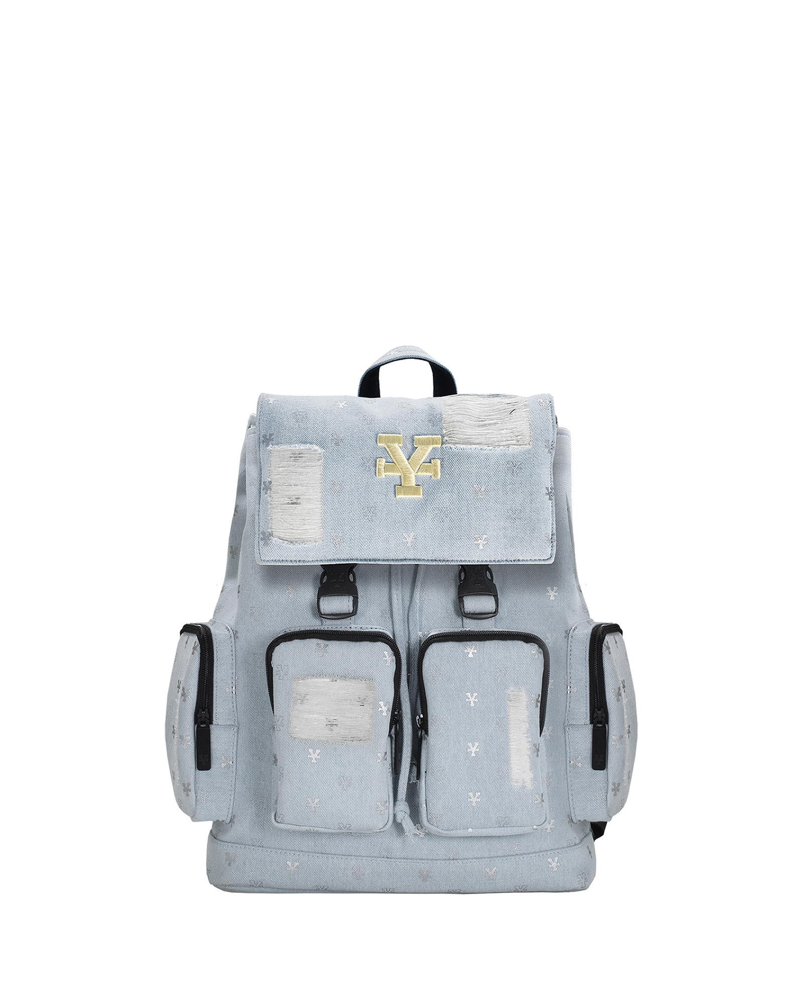 Logo Pattern Backpack - Ripped Jeans