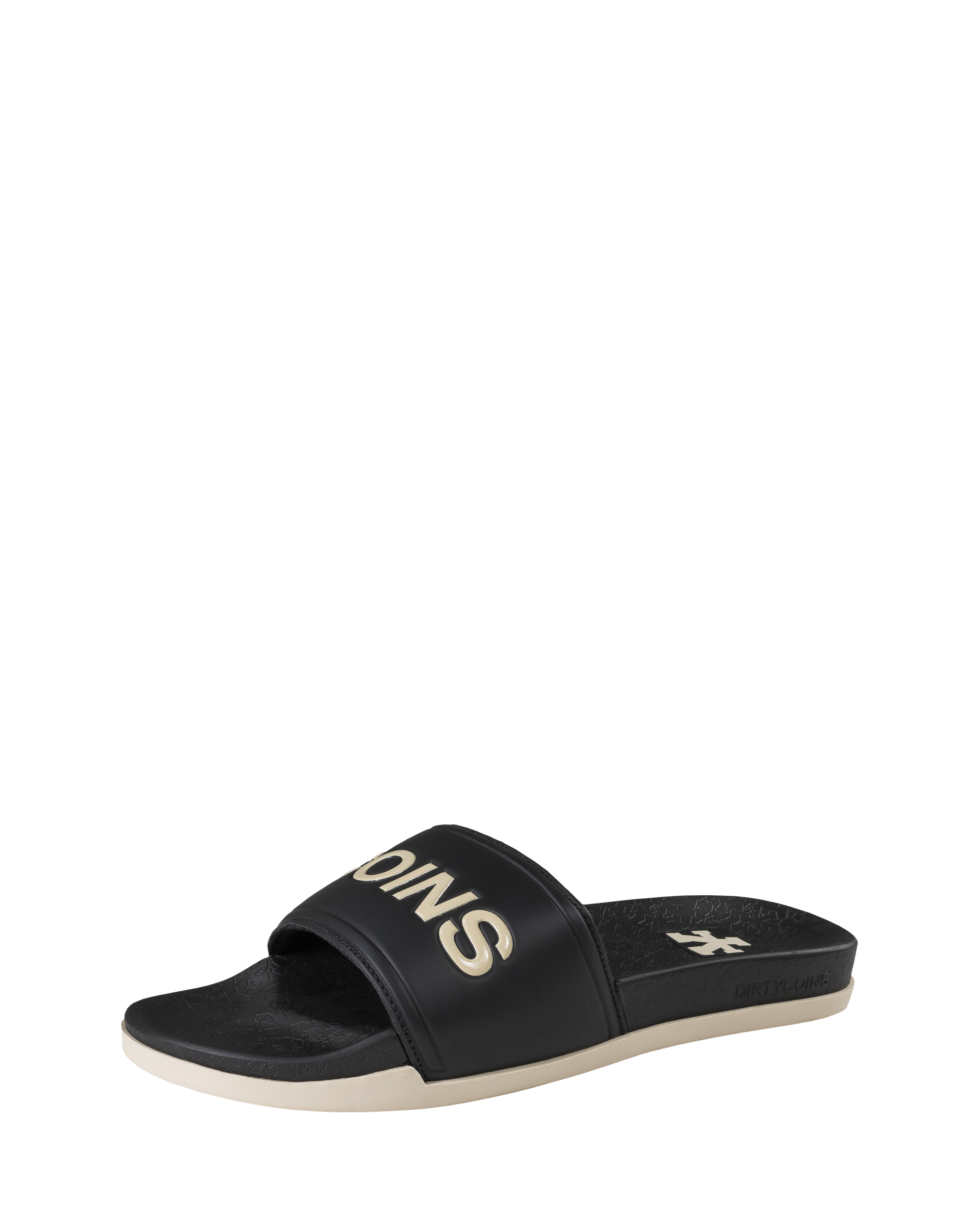 DirtyCoins Slide - Black/Tan
