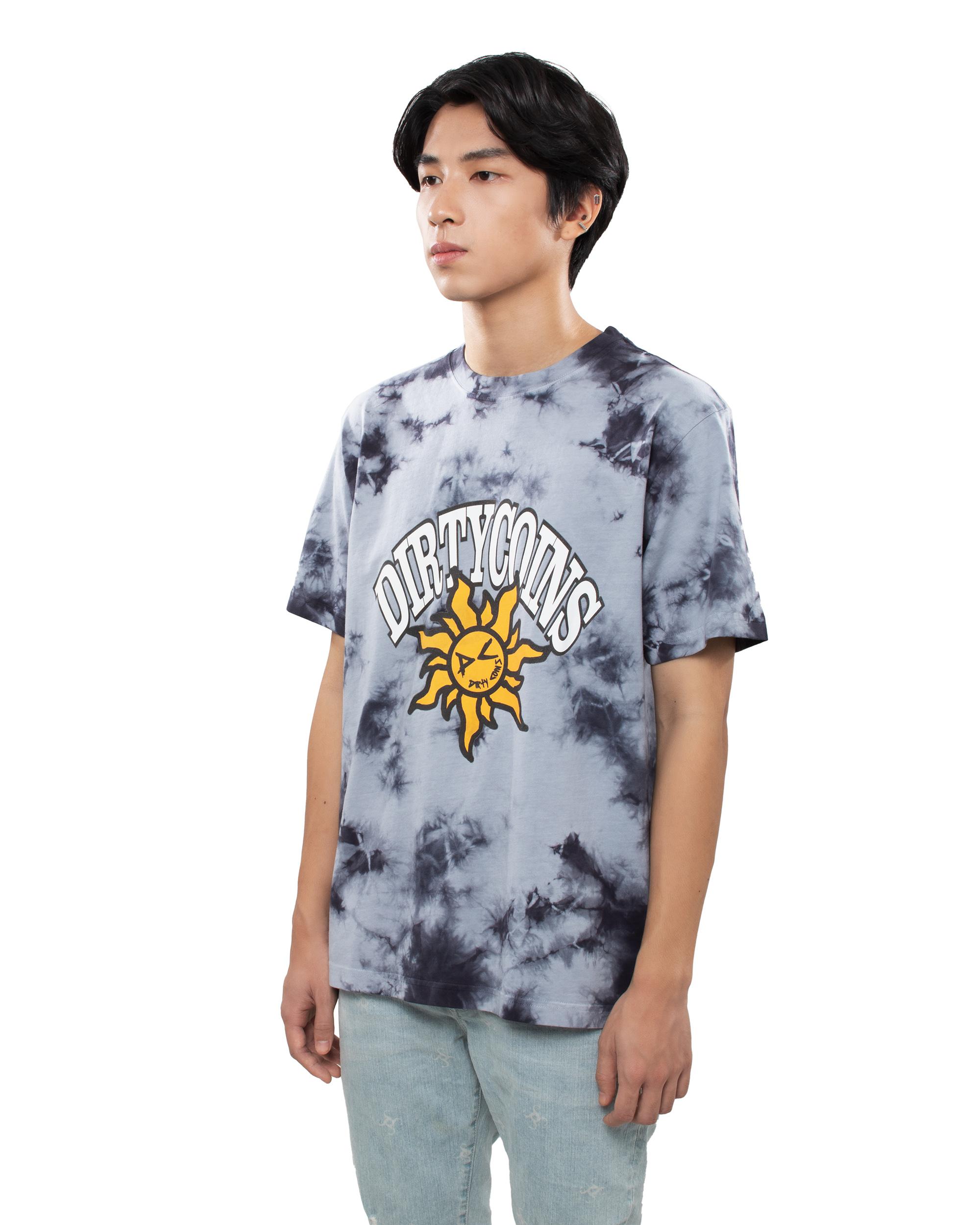 DirtyCoins Fukyba Tiedye T-Shirt - Grey