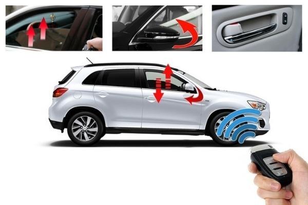 Tự động gập gương lên kính Nissan Navara