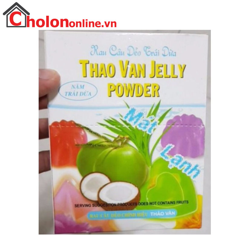 Rau câu trái dừa Thảo Vân hộp 12 gói
