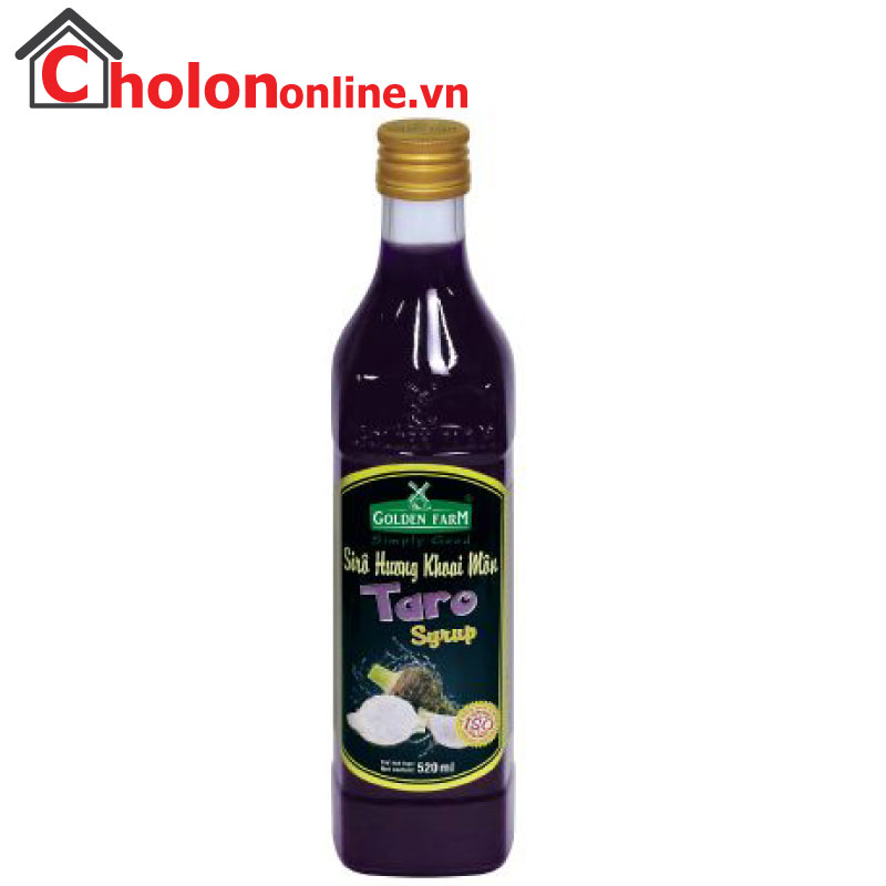 Sirô Golden Farm 520ml - khoai môn