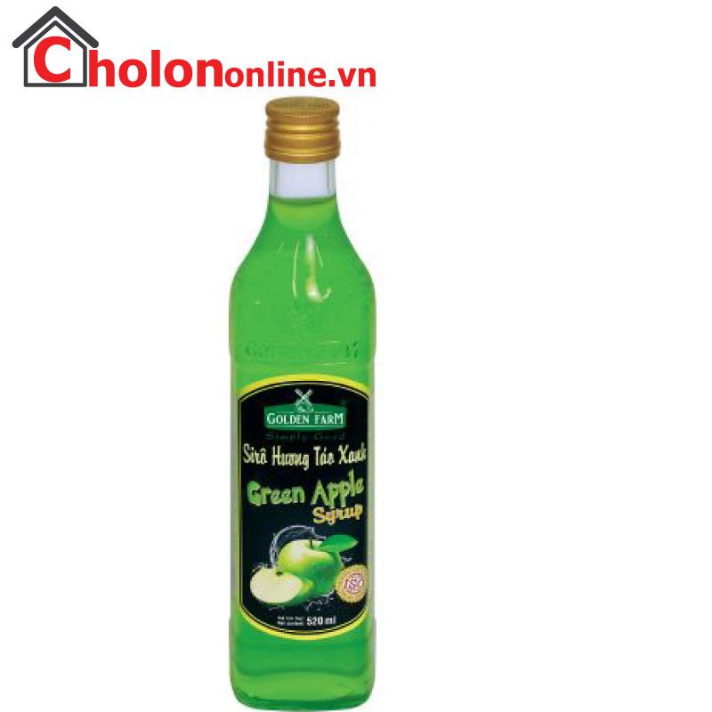 Sirô Golden Farm 520ml - táo xanh