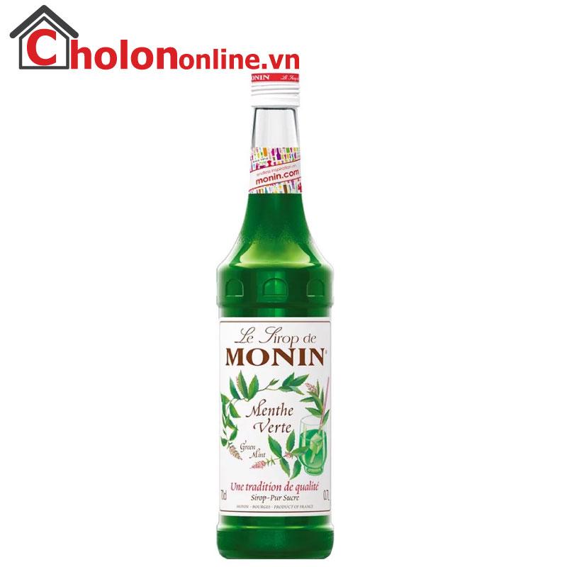Sirô Monin (Pháp) 700ml - Bạc hà xanh