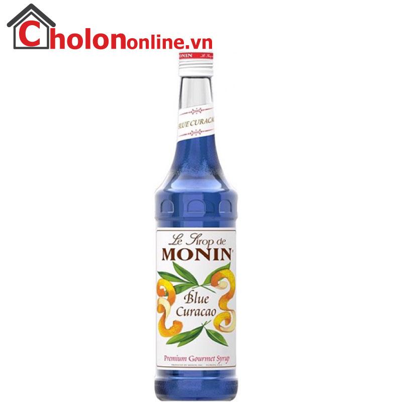 Sirô Monin (Pháp) 700ml - Vỏ cam (blue curacao)