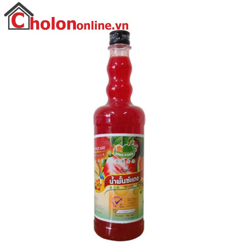 Sirô Thái Dingfong 755ml - dâu