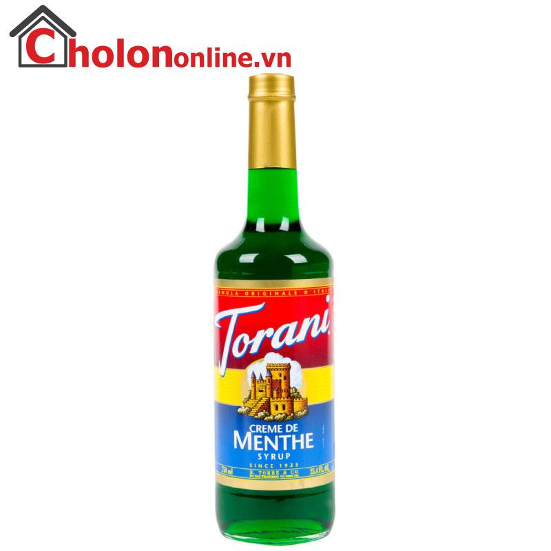 Sirô Torani (Mỹ) 750ml - Bạc hà xanh (green menthe)
