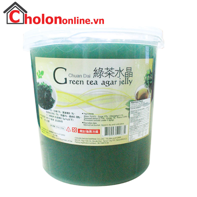 Thạch Agar trà xanh Chuandai 3.2kg