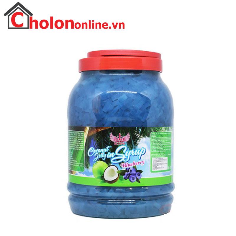 Thạch dừa Eurodeli hương việt quất 3.8kg