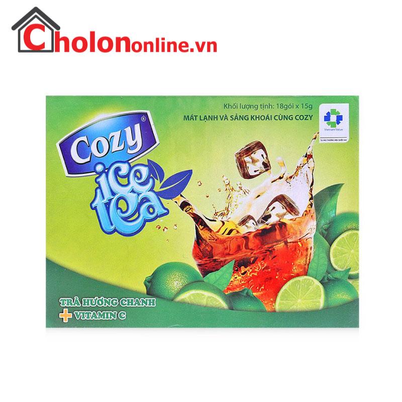 Trà Cozy ice tea chanh 270g